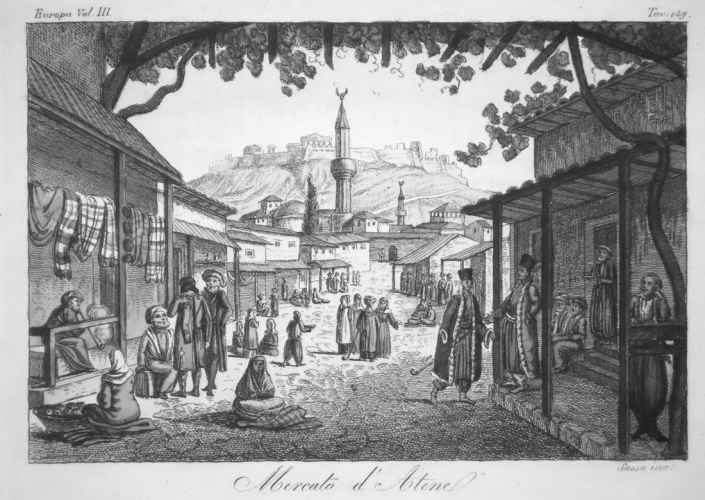 Figure 4: l'Athènes moderne (source: Lithographie d'un artiste inconnu, vers 1840, collection privée)