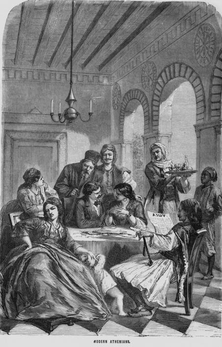 Figure 5: Mercato d' Atene (source: G.Ferrario, Storia del Governo…di tutti Popoli antichi e Moderni, Firenze, M.DCCC.XXVIII)