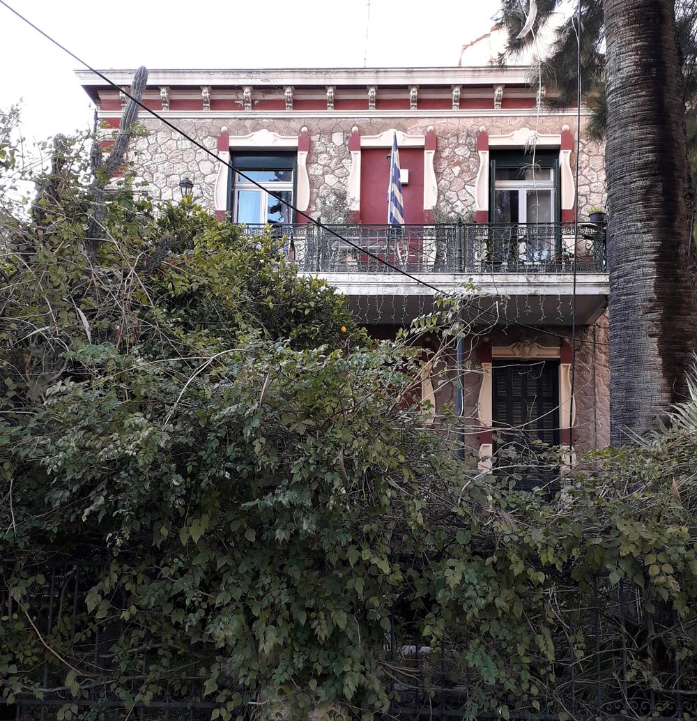 Εικόνα 18: Η οικία Χριστοφή σε κατασκευή Ε. Ziller, λιθοδομή με εκλεκτικιστικά πλαίσια. Πηγή: Ιωάννης Γεωργικόπουλος