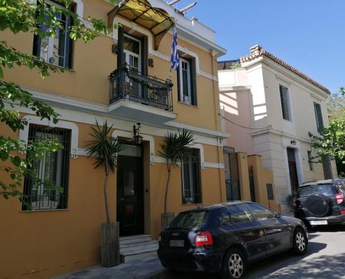 Photos 3: Au-dessus de la limite imaginaire des rues Zacharitsa et Tsami Karatasou. Source: G Dimitropoulos 2020