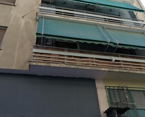 Photos 8: Sous la limite imaginaire des rues Zacharitsa et Tsami Karatasou. Source: G Dimitropoulos 2020