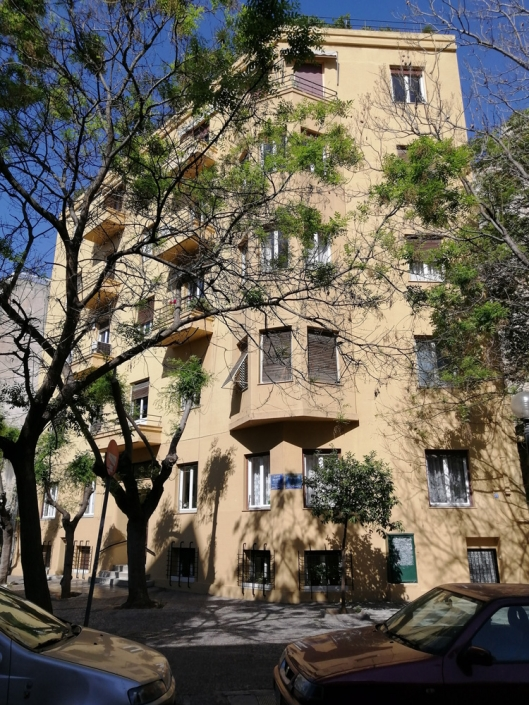 Photo 12: Un immeuble résidentiel exprimant le modernisme athénien. Source: G Dimitropoulos 2020
